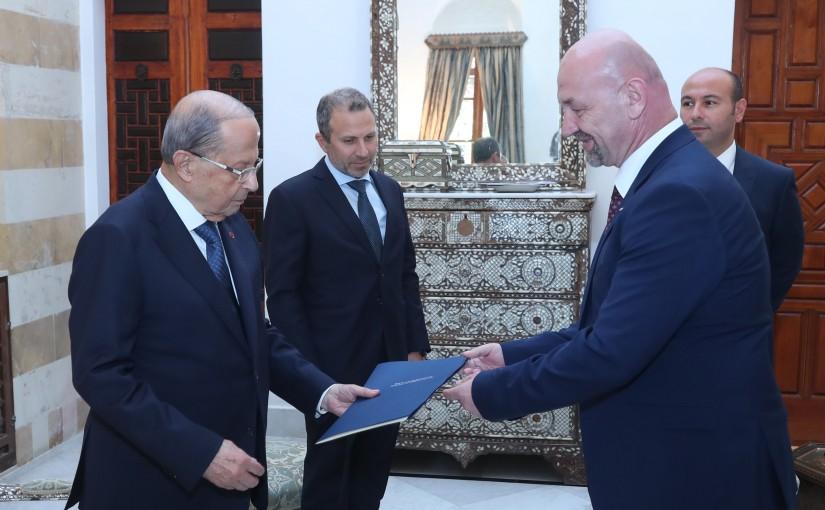 President Michel Aoun Meets Bosnia and Herzegovina Ambassador