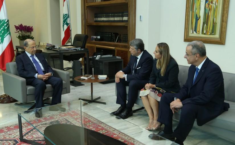 President Michel Aoun Meets Jean & Diane Daccache