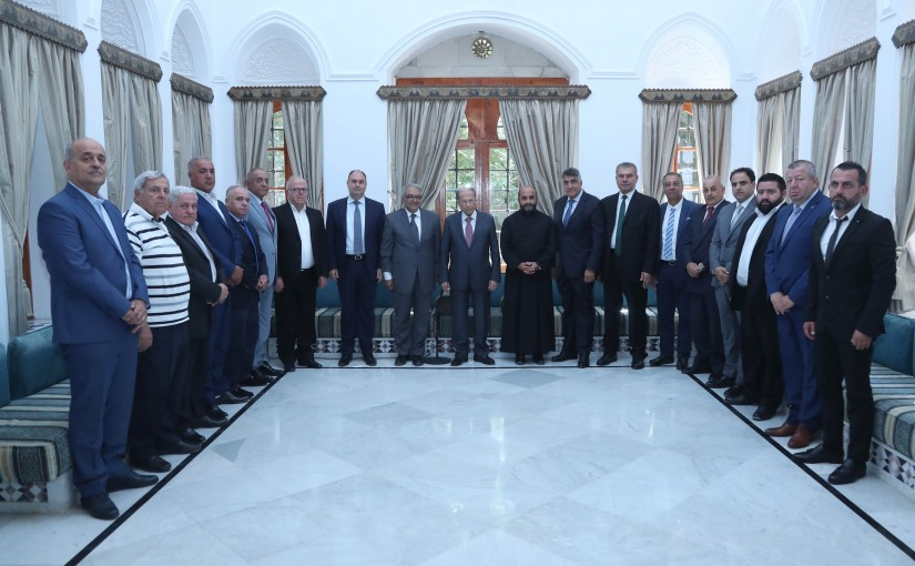 President Michel Aoun Meets a Delegation From Damour Municipality