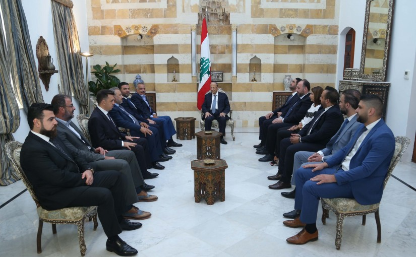 President Michel Aoun Meets a Delegation From The Lebanese Democratic Party