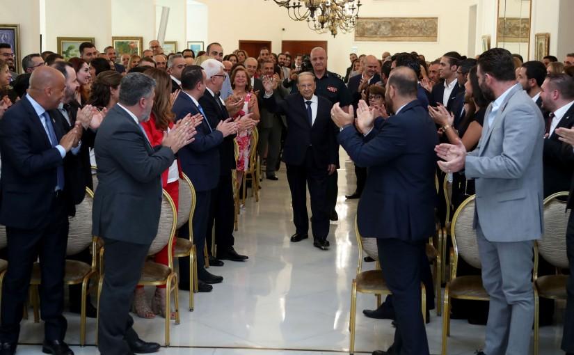 President Michel Aoun Meets a Delegation From Lebanese Diaspora