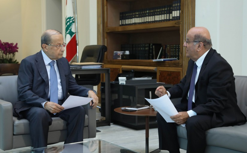 President Michel Aoun Meets Dr Jarjoura Herdan