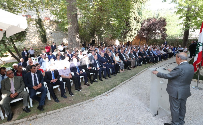 President Michel Aoun Meets a Delegation From Eklim El Kharoub