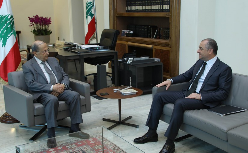 President Michel Aoun Meets Minister of Defense Elias Bou Saab