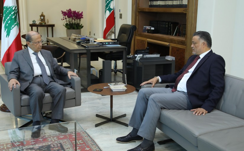 President Michel Aoun Meets Honorary Consul of Peru in Lebanon  Hamed Abou Zahr