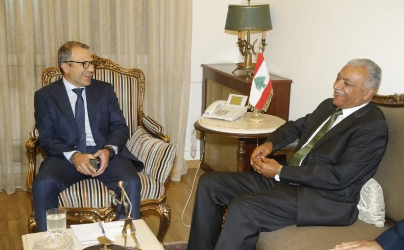 Minister Gebran Bassil meets Iraqi Ambassador