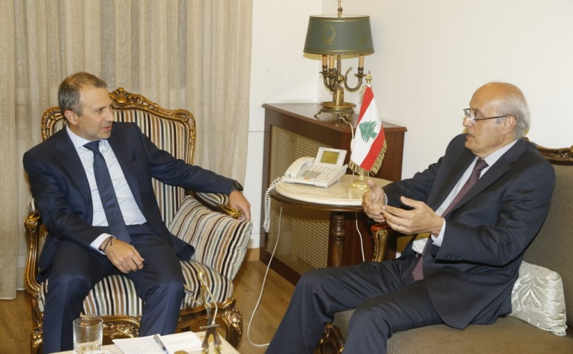 Minister Gebran Bassil meets Mr Charaf Abou Charaf