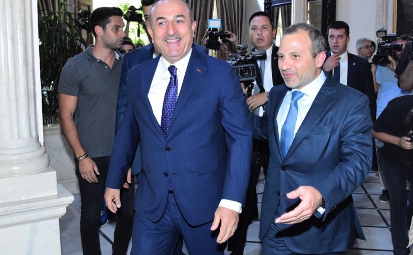 Minister Gebran Bassil meets Turkish Minister of Foreign Affairs