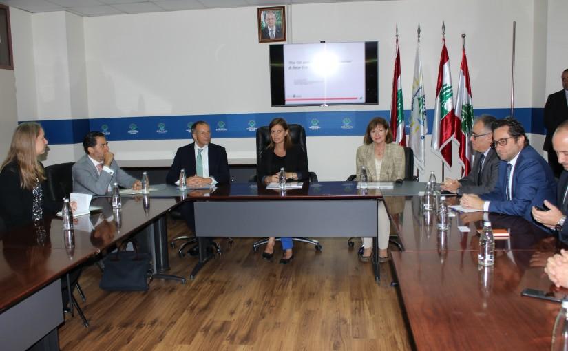 Minister Nada Boustani meets a US Delegation
