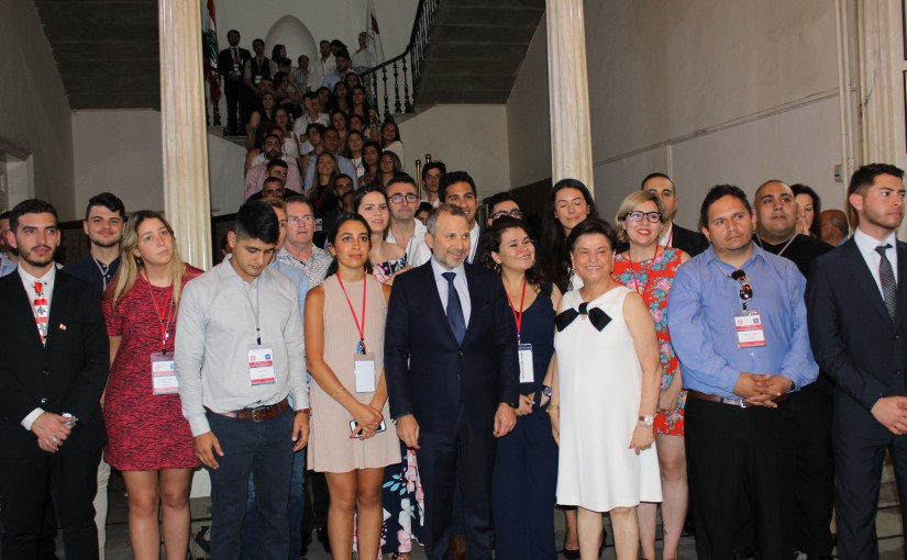 Minister Gebran Bassil meets a Delegation from Lebanese Youth