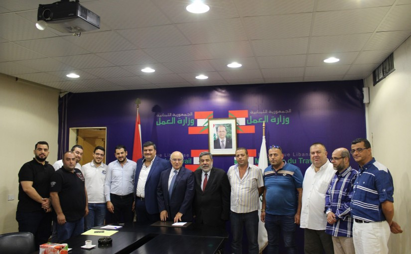 Minister Camille Abou Sleiman meets a Delegation from North Syndicate