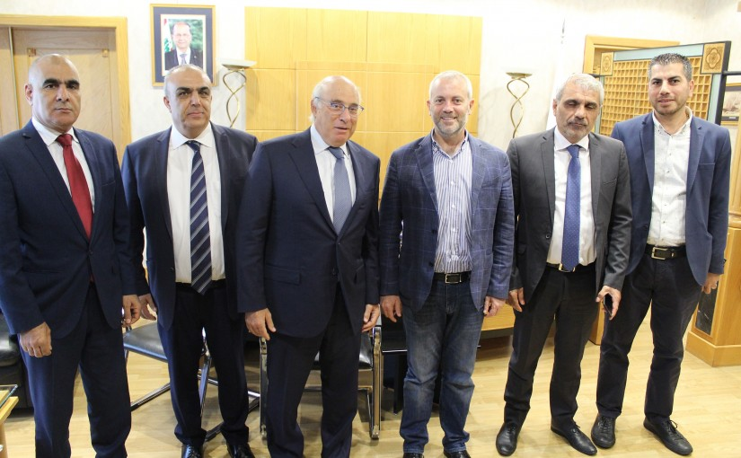 Minister Camille Abou Sleiman meets MP Antoine Habche with a Delegation