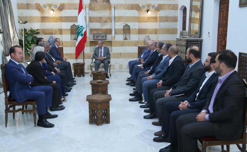 President Michel Aoun Meets Minister Jamil Jabak & Iraqi Minister of Health Alaa Al Alwan