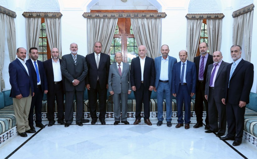 President Michel Aoun Meets a Delegation From The Islamic Group