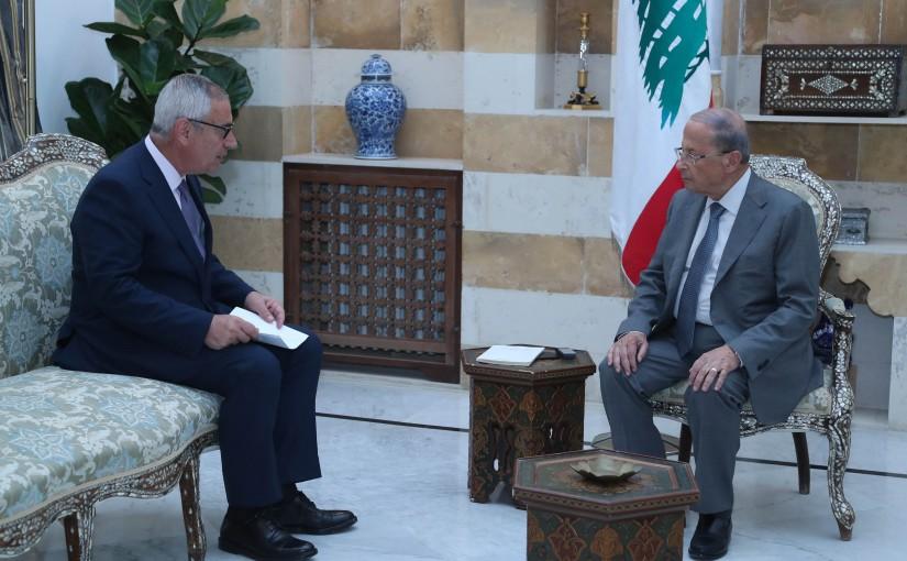 President Michel Aoun Meets Judge Jean Fahed