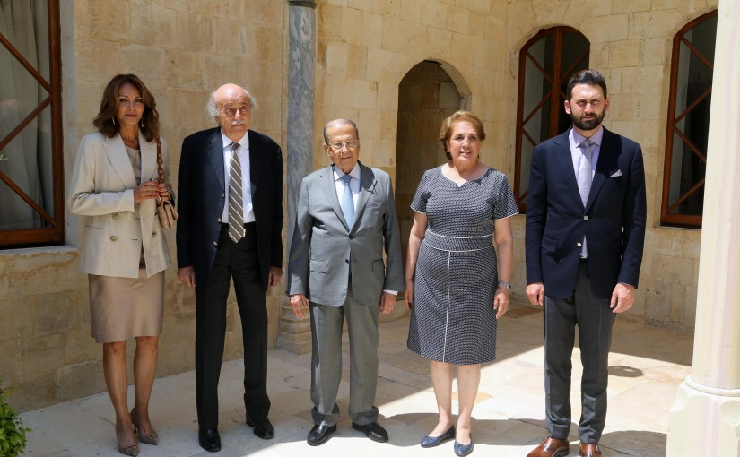 President Michel Aoun Meets Mr Walid Jumblat & Family