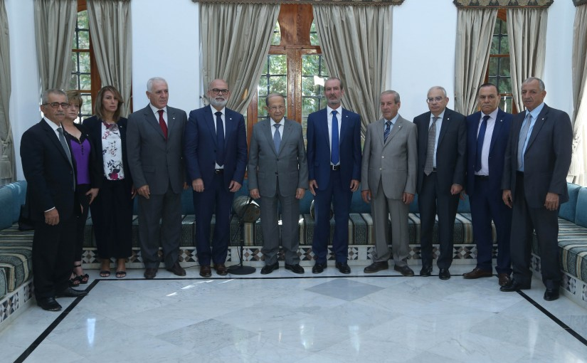 President Michel Aoun Meets a Delegation From The Kataeb Party