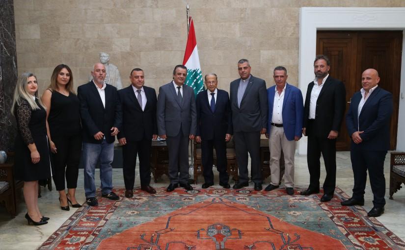 President Michel Aoun Meets Mar Semaan Al Amoudi Kleiat Committee