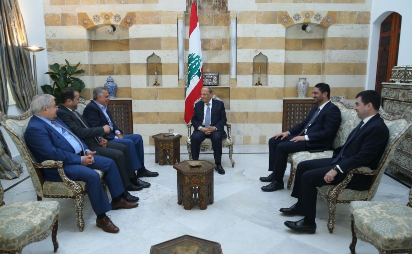 President Michel Aoun Meets a Delegation From The Mountain's Guarantee Parliamentary Bloc