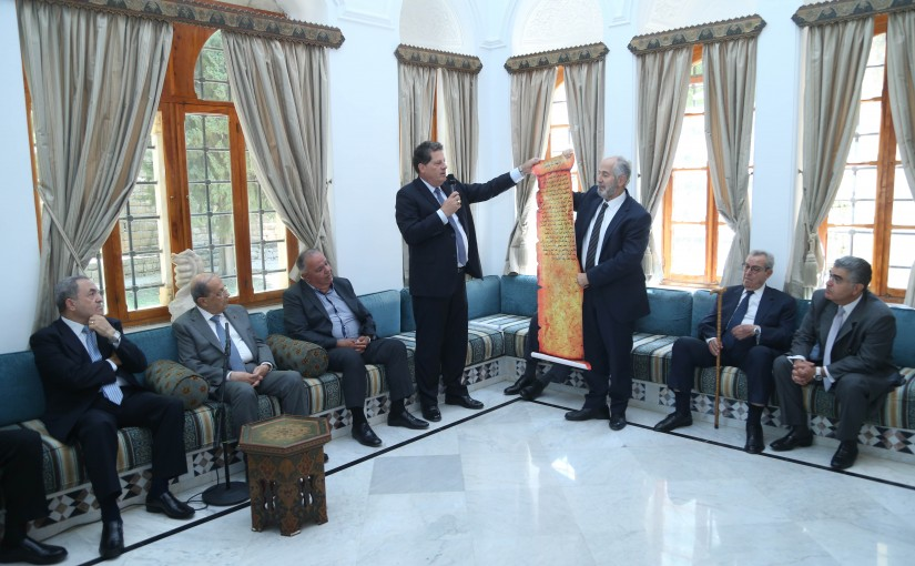 President Michel Aoun Meets a Delegation From Mountain Sons Gathering in The Chouf Region