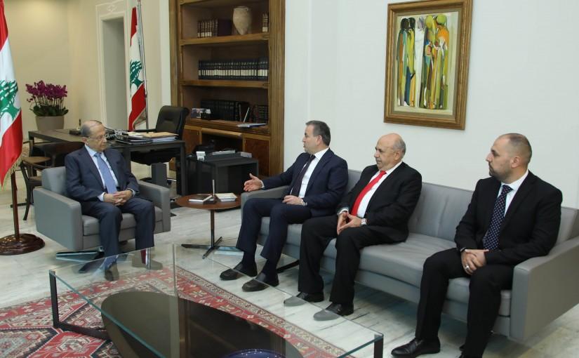 President Michel Aoun Meets MPs Asaad Dergham & Mostafa Hussein