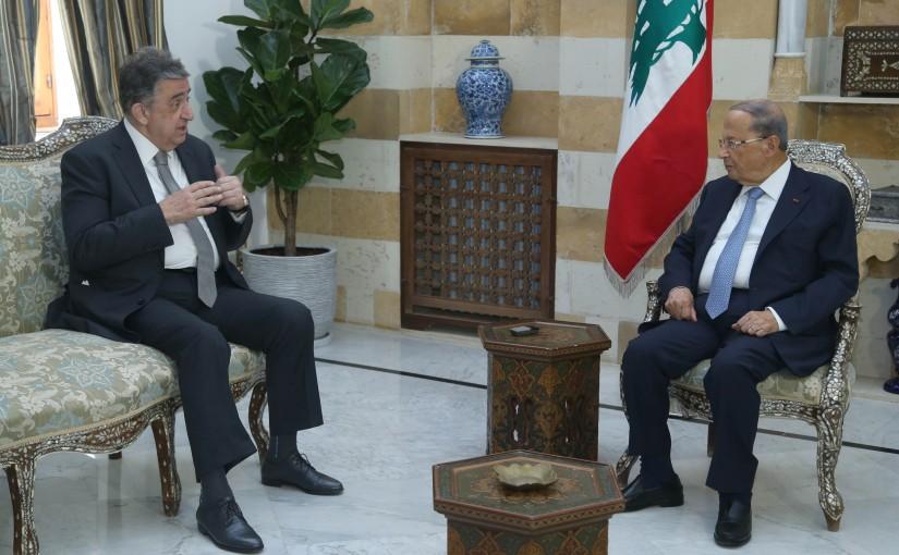 President Michel Aoun Meets Former Minister Naji Bustani