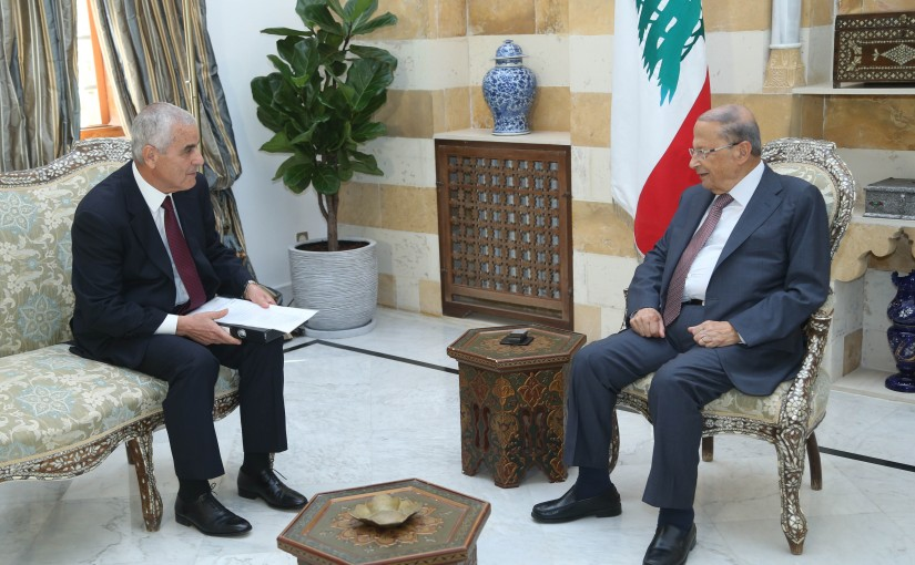 President Michel Aoun Meets Head of The Central Fund for the Displaced Nicolas El Haber