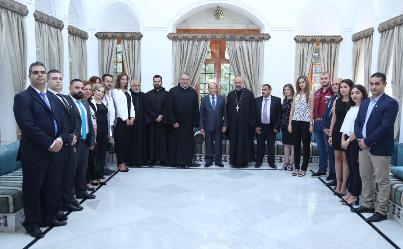 President Michel Aoun Meets a Delegation From The Pastoral Council in Deir El Kamar