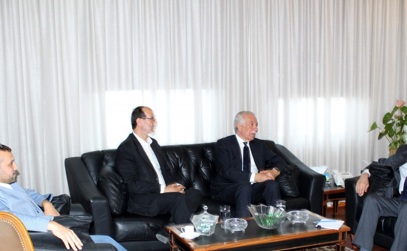 Minister Albert Serhan meets a Delegation from Bekaa MPs