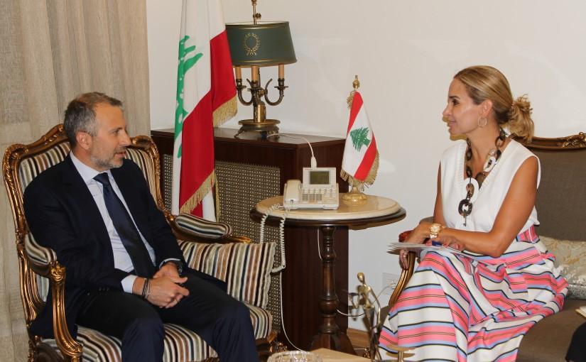 Minister Gebran Bassil meets Suisse Ambassador