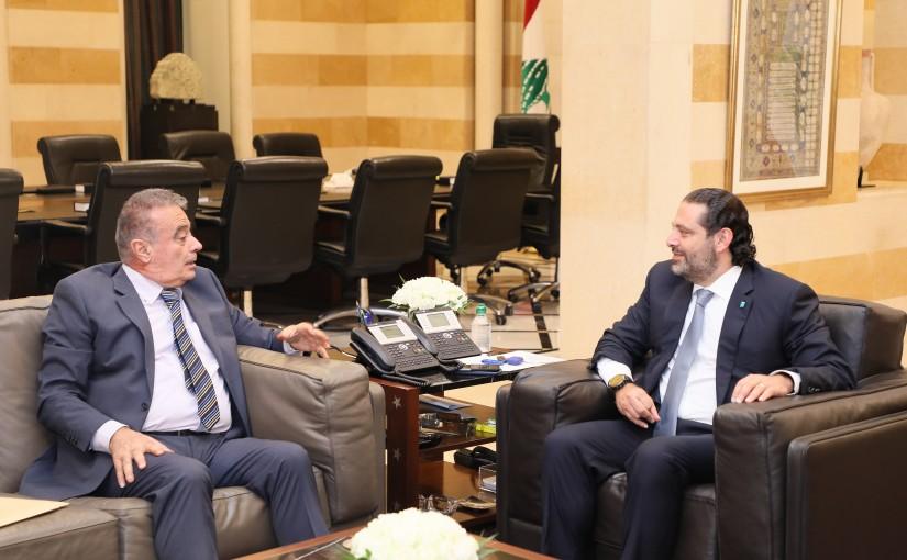 Pr Minister Saad Hariri meets Judge Riyad Abou Ghaida