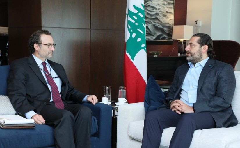 Pr Minister Saad Hariri meets Mr David Schenker