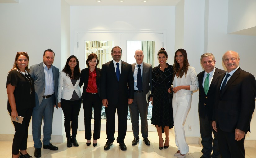Pr Minister Saad Hariri meets a Delegation from Lebanese Journalists