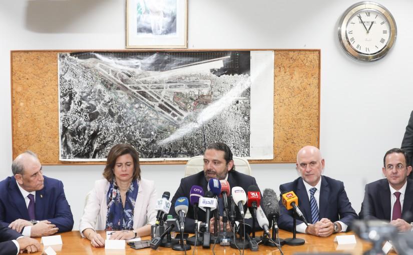 Pr Minister Saad Hariri Visits Beirut Airport