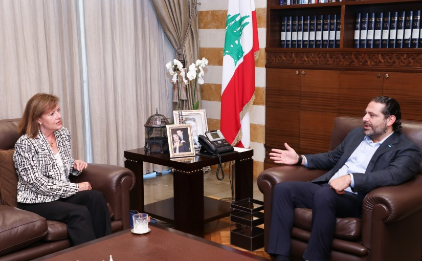Pr Minister Saad Hariri meets US Ambassador