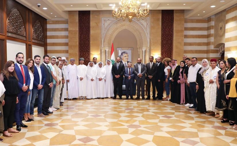 Pr Minister Saad Hariri meets a Delegation from Arab Union
