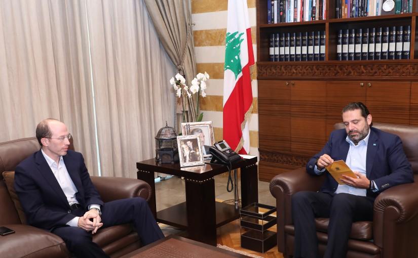 Pr Minister Saad Hariri meets Mr Mazen Tabara