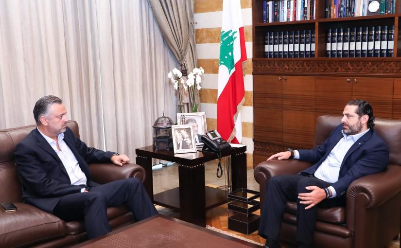 Pr Minister Saad Hariri meets MP Hady Houbeich