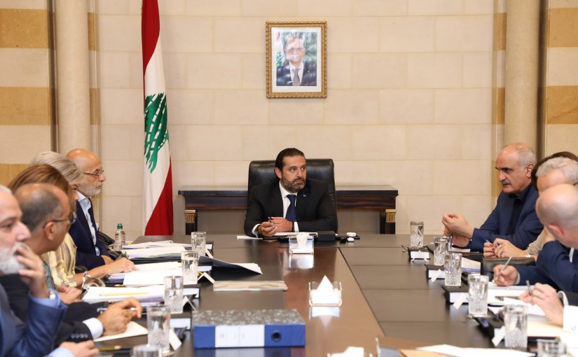 Pr Minister Saad Hariri Heading a Meeting for Garbadge Solution