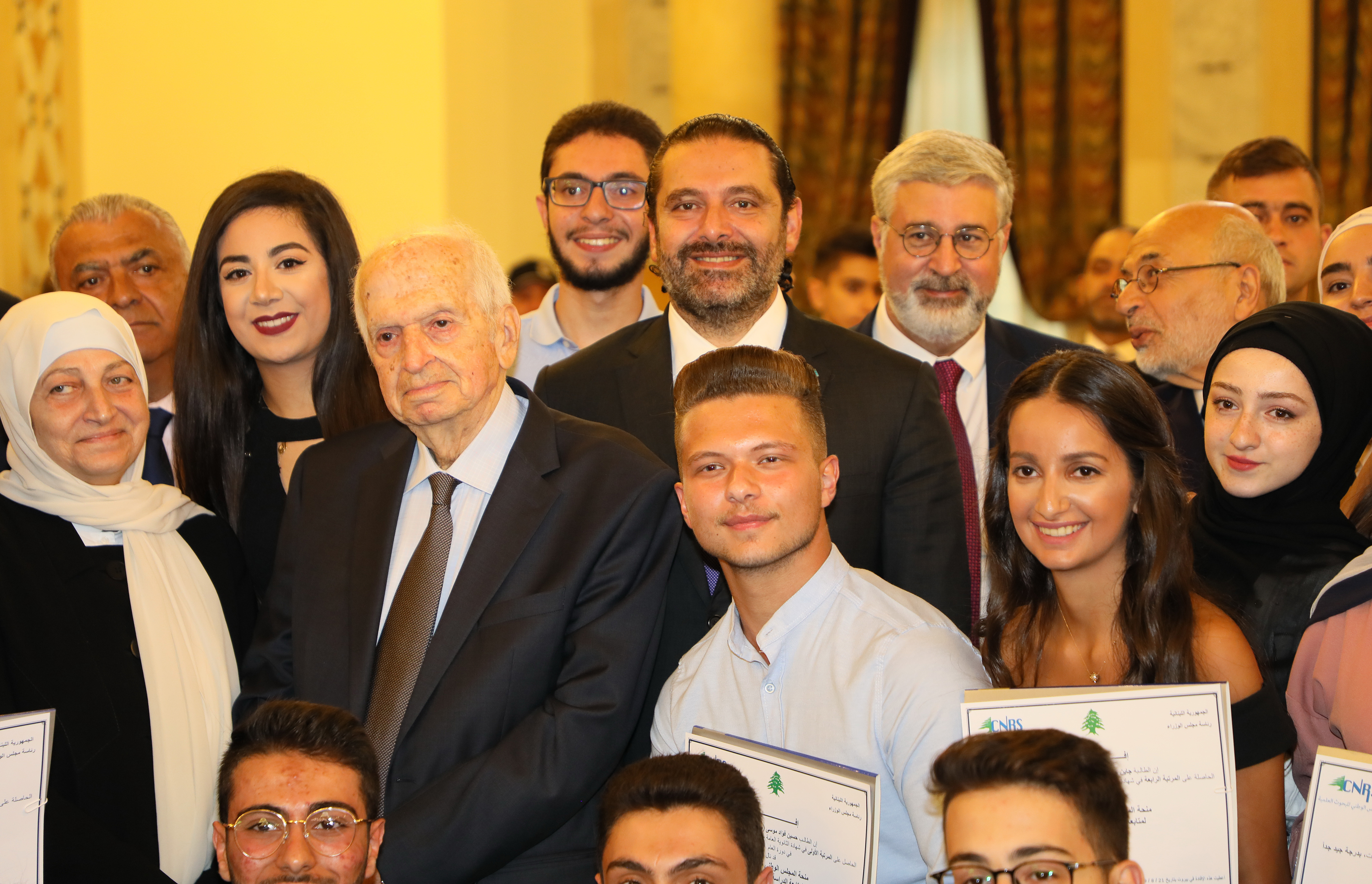 Pr Minister Saad Hariri Honors a Delegation from Lebanese Students 1