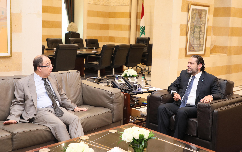 Pr Minister Saad Hariri meets Ambassador Ali Halabi 1