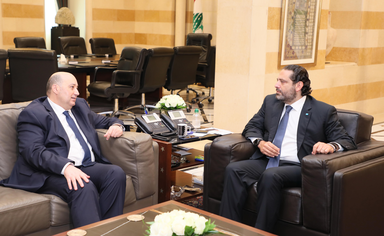 Pr Minister Saad Hariri meets Ambassador Hassan Saleh