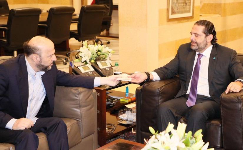 Pr Minister Saad Hariri meets Former Minister Melhem Riachi