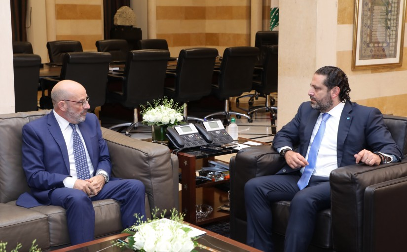 Pr Minister Saad Hariri meets Former Minister Yacoub Saraf