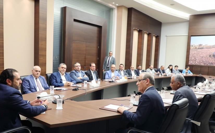 Pr Minister Saad Hariri meets Iraqi Minister of Health with a Delegation