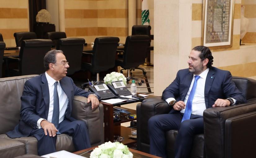 Pr Minister Saad Hariri meets Minister Mansour Bteich