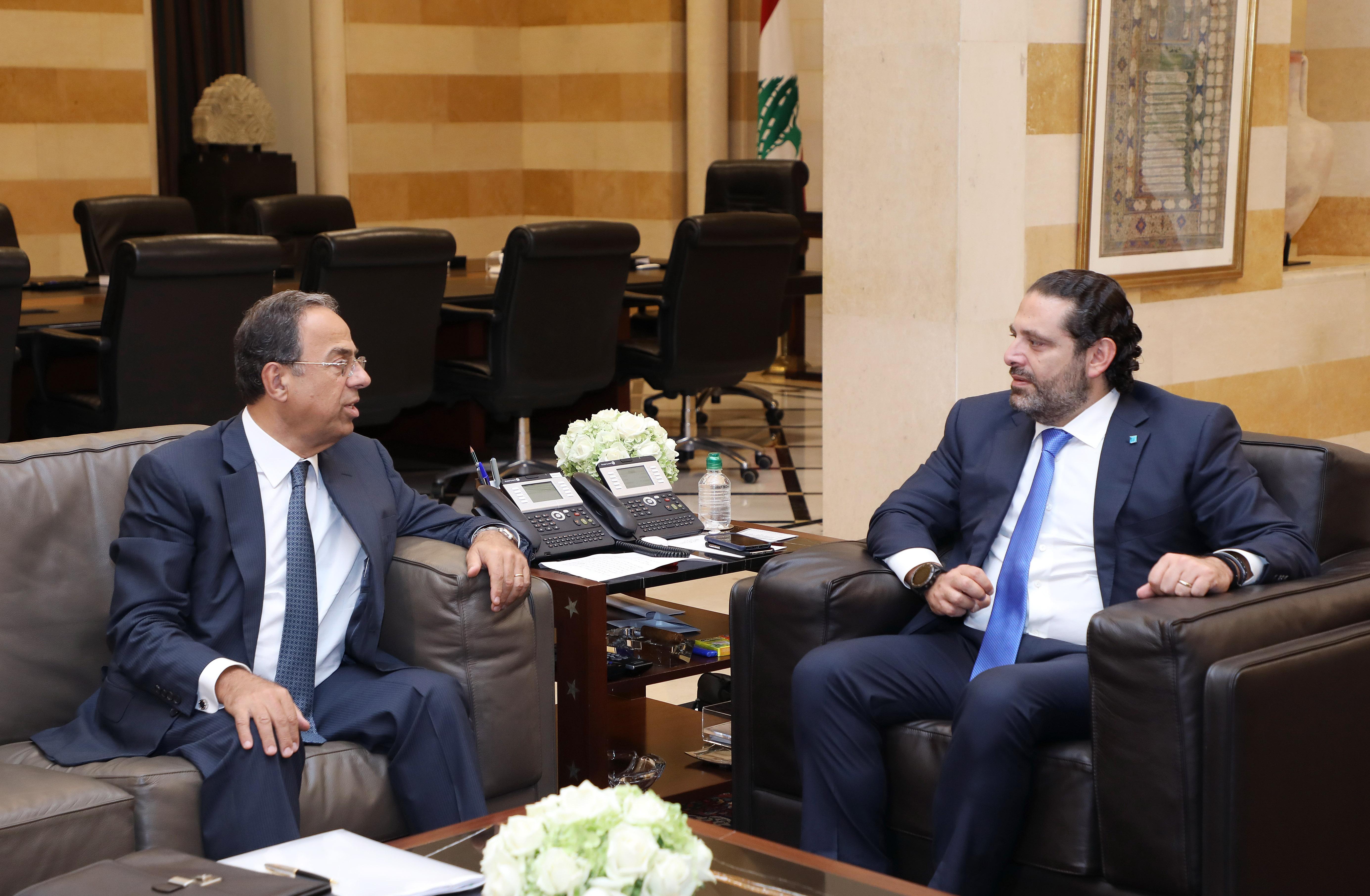 Pr Minister Saad Hariri meets Mansour Bteich