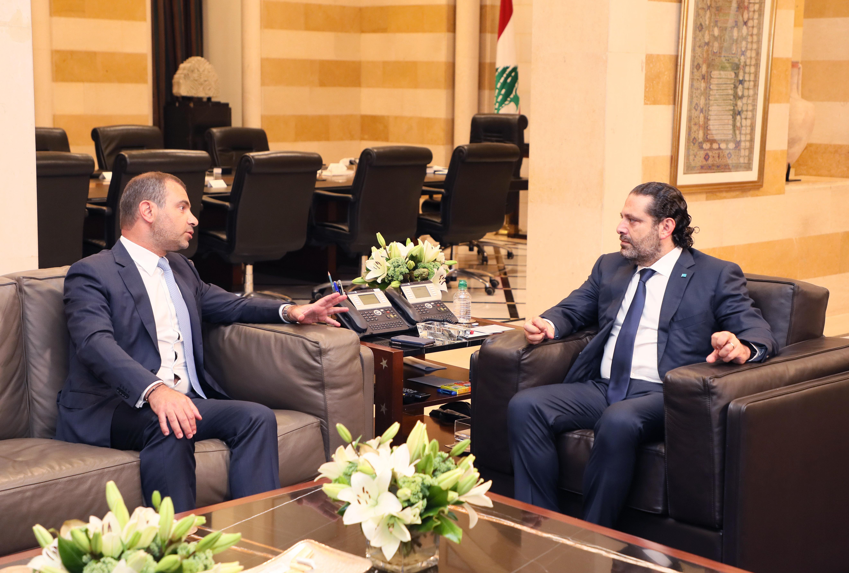 Pr Minister Saad Hariri meets Minister Adel Afyouni