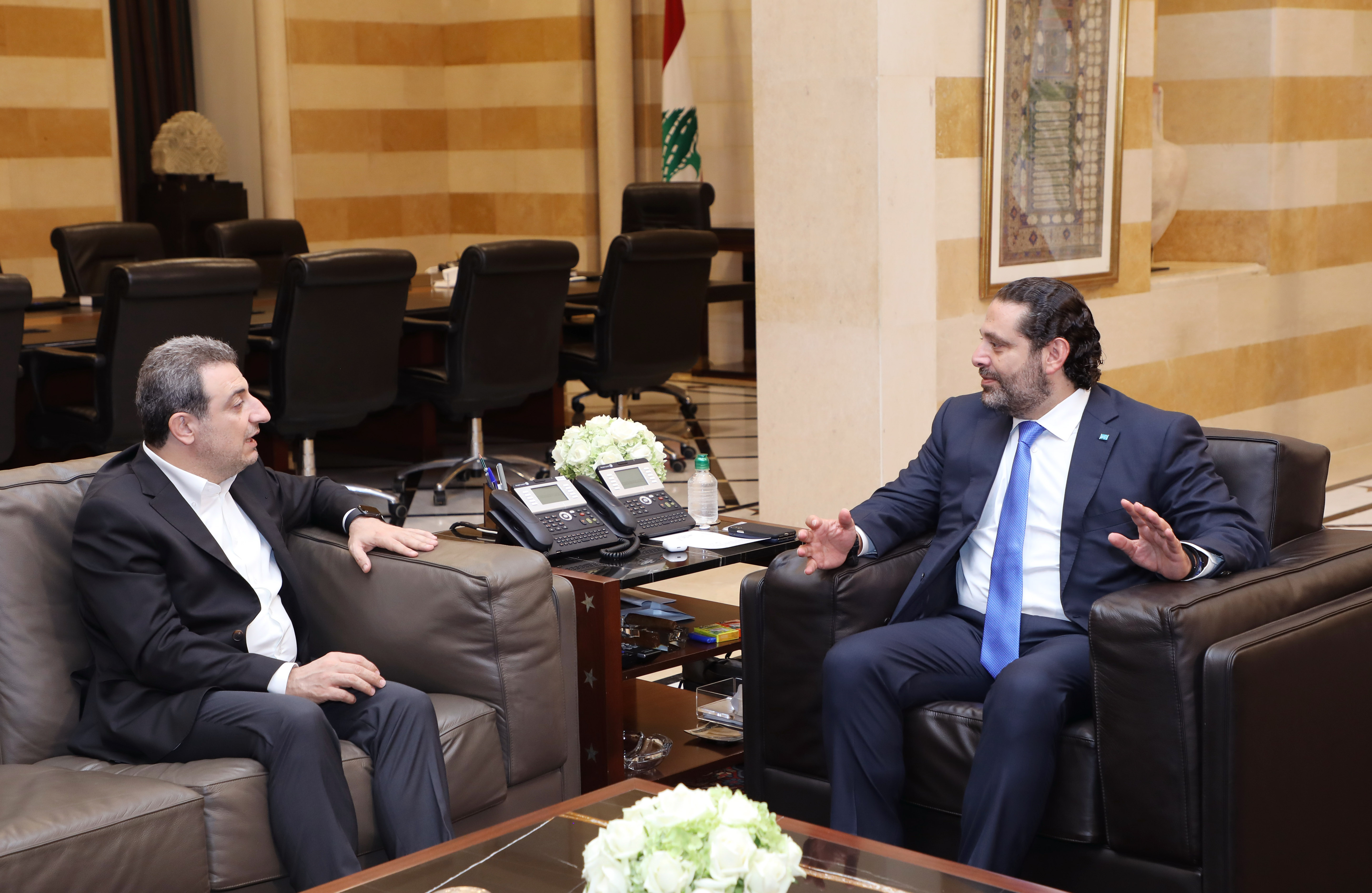 Pr Minister Saad Hariri meets Minister Wal Abou Faour