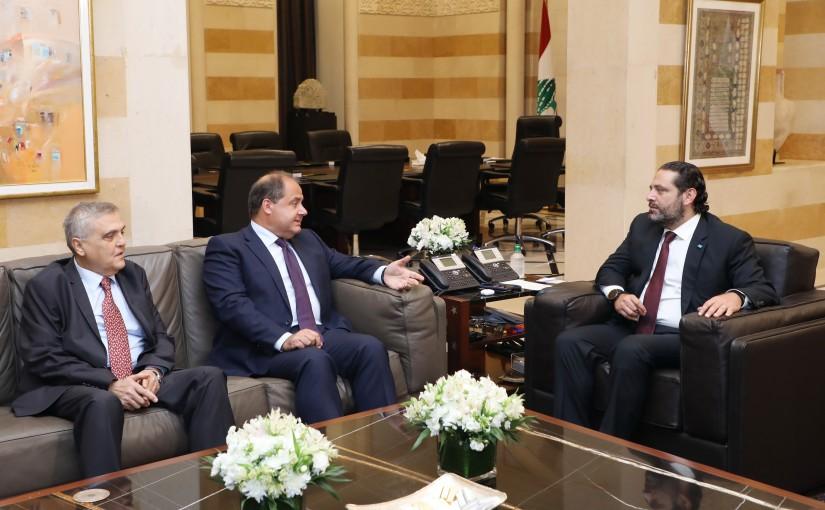 Pr Minister Saad Hariri meets Mr Charle Arbid